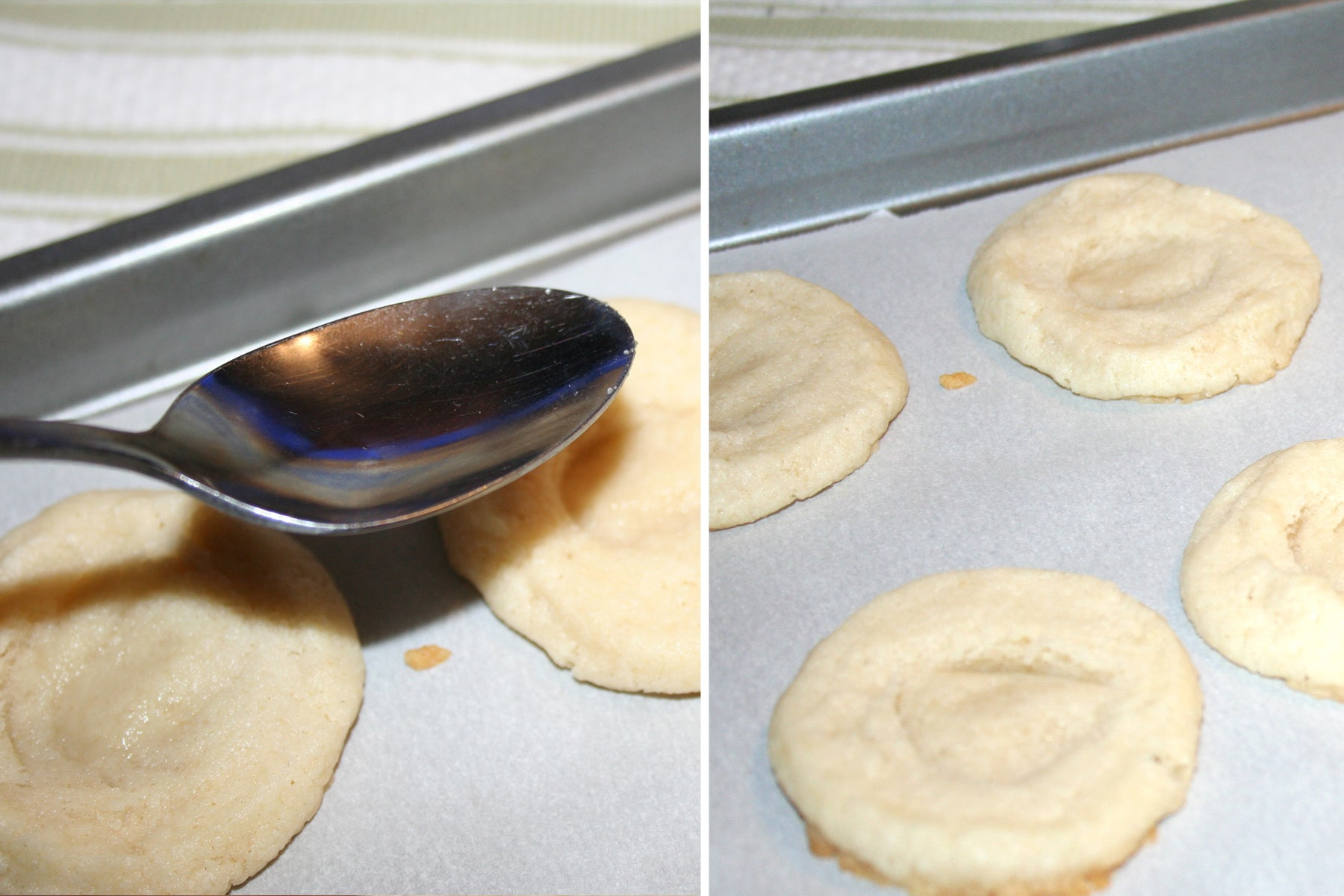 Homemade Girl Scout Cookies: Smooth Operator Tagalongs® -  make an indent in the center of the cookie