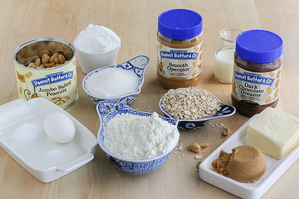 Triple Peanut Butter Sandwich Cookies Ingredients - Smooth Operator peanut butter