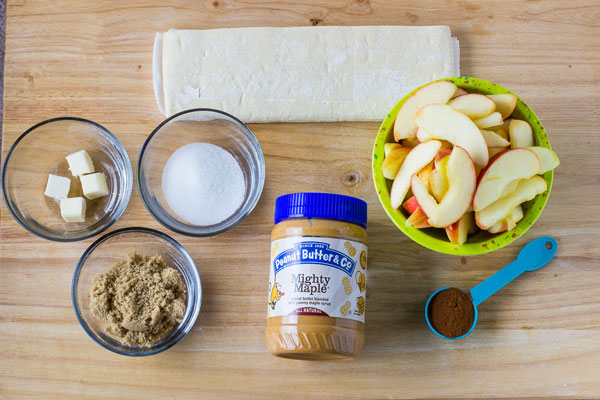 Peanut Butter Apple Galette Ingredients - Peanut Butter & Co. Mighty Maple peanut butter