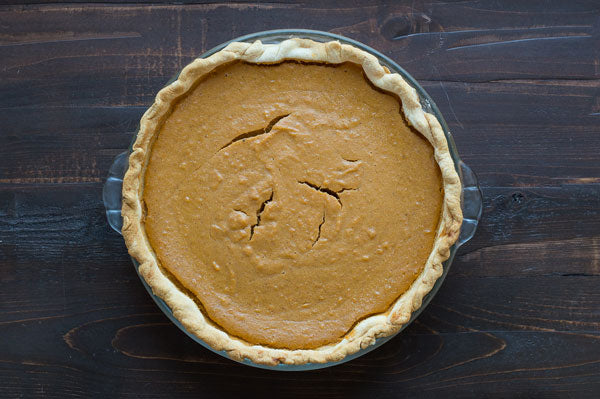 Sweet Potato Peanut Butter Pie - Bake in the lower third of your oven for 50-60 minutes