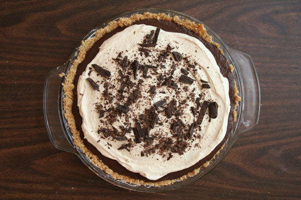 Peanut Butter Chocolate Cream Pie - garnish with chopped chocolate or a dusting of cocoa powder