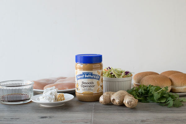 Thai Peanut Butter Sandwich with Ginger Slaw Ingredients - Peanut Butter & Co. Smooth Operator peanut butter