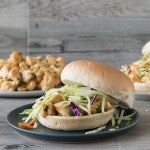 Thai Peanut Butter Sandwich with Ginger Slaw