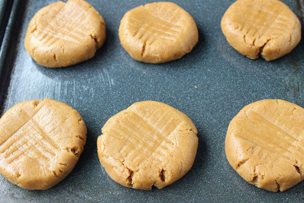 Pumpkin Spice Peanut Butter Cookies - then crisscross with fork marks if you so please