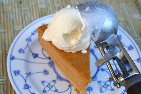 Pumpkin Spice Peanut Butter Cheesecake - Serve chilled, with whipped cream or ice cream on top