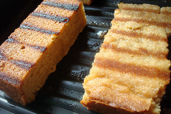 "Grilled Peanut Butter Pound Cake - until the grill marks have reached your desired ""char"" level"