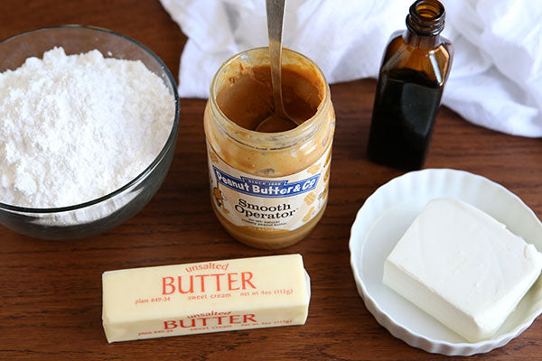 Peanut Butter Caramel and Banana Layer Cake - Frosting ingredients