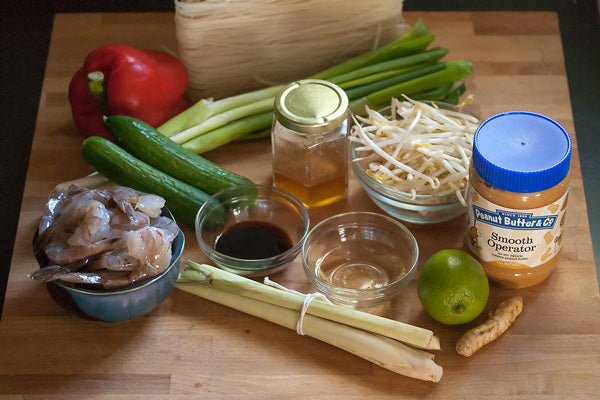 Vermicelli Salad with Grilled Shrimp & Ginger-Peanut Butter Dressing Ingredients - Peanut Butter & Co. Smooth Operator peanut butter