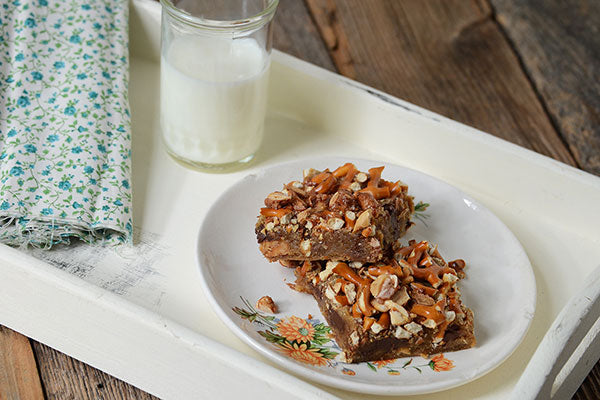 White Chocolate Peanut Butter Blondies - Cool completely before cutting