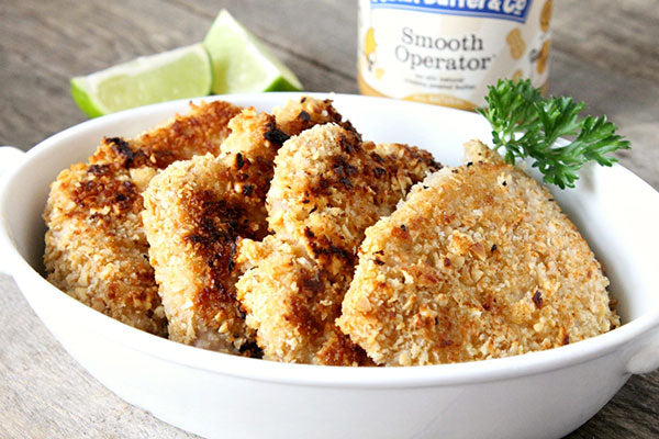 Peanut Butter Panko Pork Chops - Squeeze the lime wedges over the pork chops or serve on the side