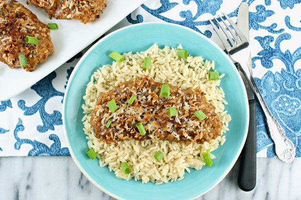 Crispy Peanut Butter Coconut Chicken