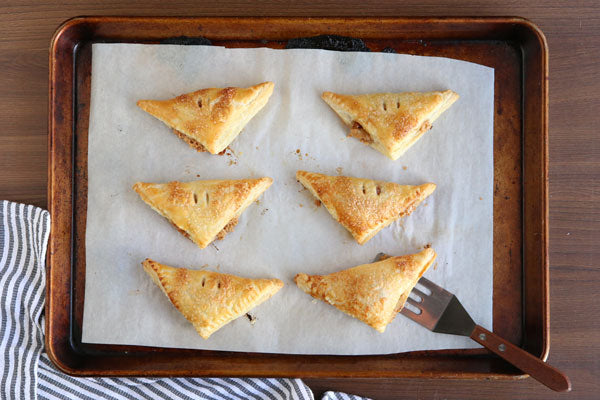 Peanut Butter and Jelly Turnovers - Brush with egg wash and bake until golden, 10-12 minutes.