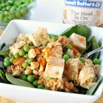 Spicy Peanut Butter Tofu Rice Salad