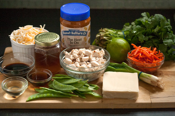 Chicken Nachos with Spicy Peanut Butter Satay Sauce Ingredients - Peanut Butter & Co. The Heat Is On Peanut Butter