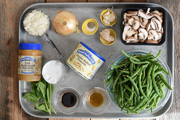Thai-Inspired Creamy Peanut Butter Green Bean Casserole Ingredients - Peanut Butter & Co.  Old Fashioned Smooth Peanut Butter
