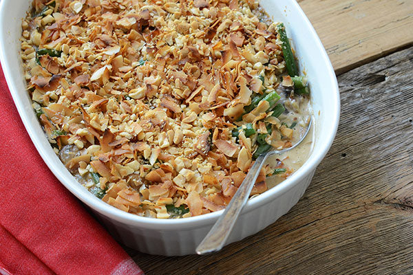 Thai-Inspired Creamy Peanut Butter Green Bean Casserole