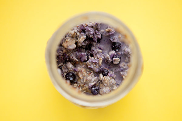 Overnight Blueberry Peanut Butter Oatmeal Finished 1