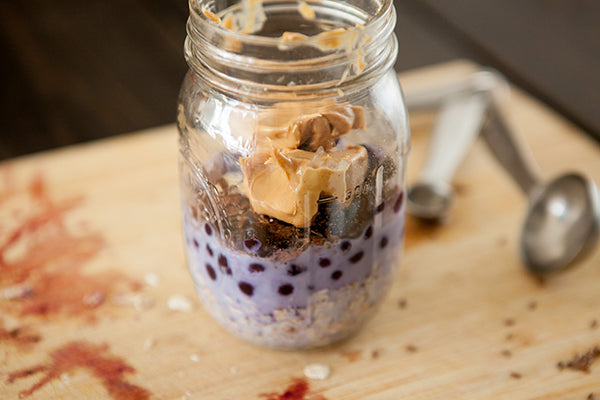 Overnight Blueberry Peanut Butter Oatmeal Process 5