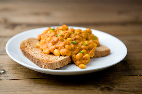 Curried Peanut Butter Baked Beans
