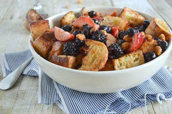 """Peanut Butter and Jelly"" Panzanella Salad"