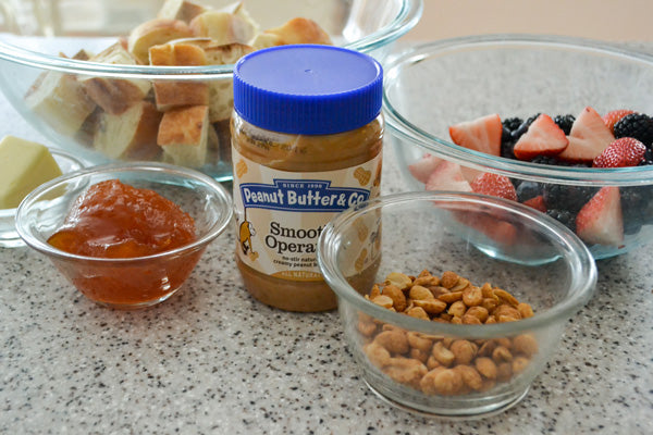 """Peanut Butter and Jelly"" Panzanella Salad Ingredients - Peanut Butter & Co. Smooth Operator peanut butter"
