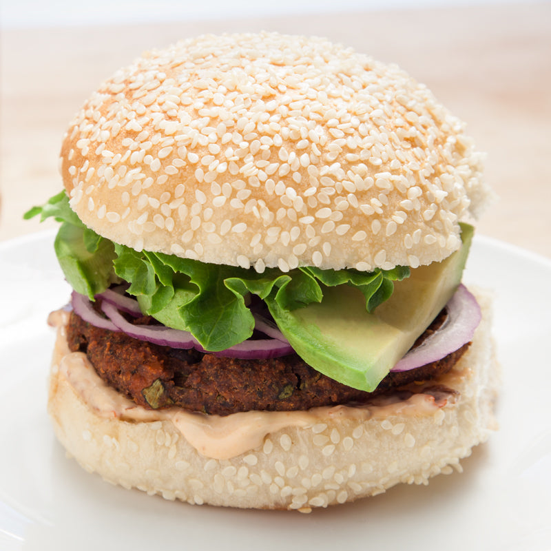 Spicy Peanut Butter Black Bean Burger (without bun)