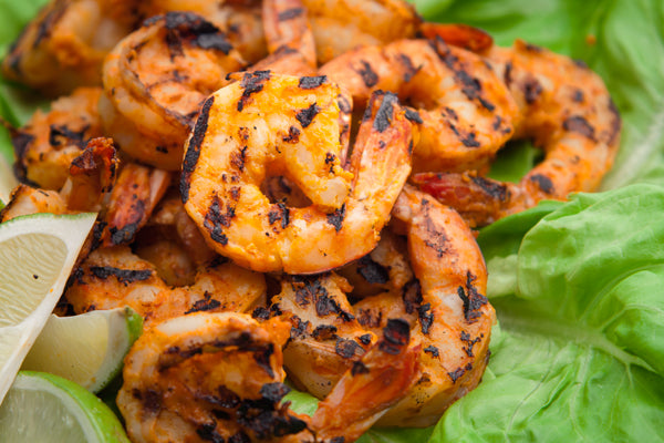 Grilled Spicy Peanut Butter Marinated Shrimp