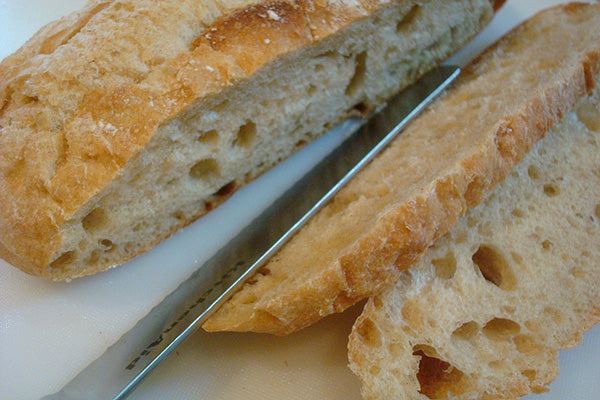 Slice your bread into approximately ½ inch thick slices.