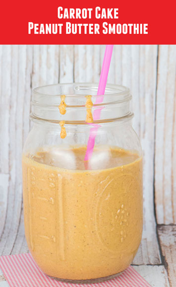 Carrot Cake Peanut Butter Smoothie