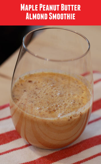 Maple Peanut Butter Almond Smoothie