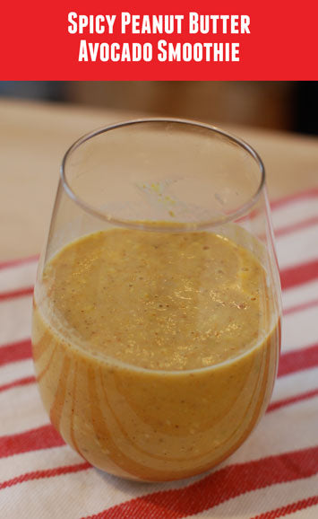 Spicy Peanut Butter Avocado Smoothie