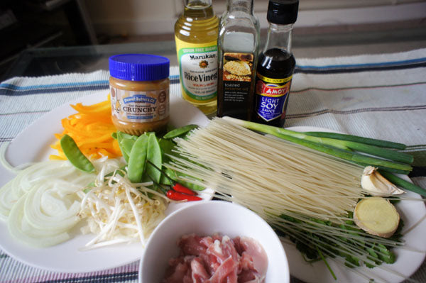 Spicy Chicken & Sesame Noodle Salad with Peanut Butter Sauce Ingredients