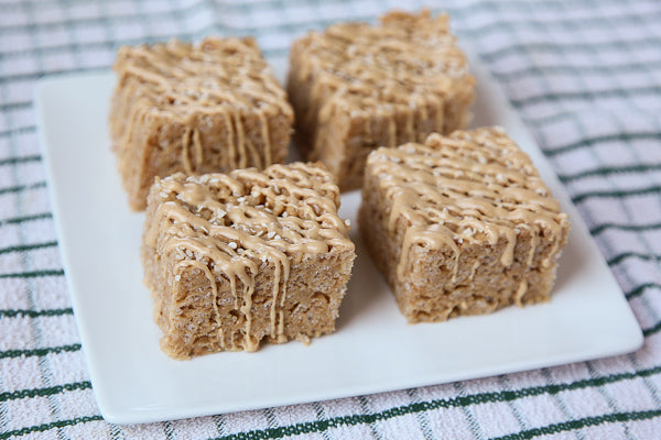 Peanut Butter Sesame Rice Crispy Treat