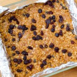 Refrigerate for at least 2 hours. Cut bars into squares.