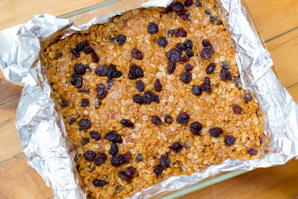 Chewy Maple Peanut Butter Granola Bars - Refrigerate for at least 2 hours.  Cut bars into squares.