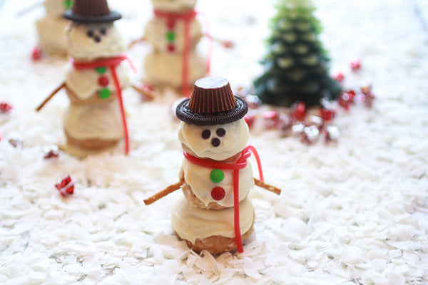 White Chocolate Peanut Butter Coconut Frosty the Snowmen