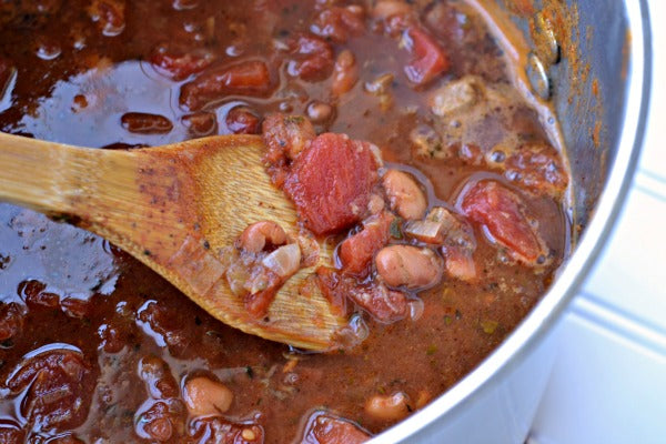 Spicy Beef Chili with Peanut Butter  Added Vegetable and beans