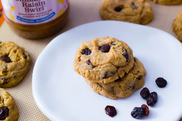 Cinnamon Raisin Peanut Butter Oatmeal Cookies