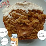 Sweet Potato Cupcakes with Maple Peanut Butter Frosting and Filling