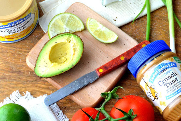 ingredients tomatoes avocados peanut butter scallions lime juice mint salt pepper