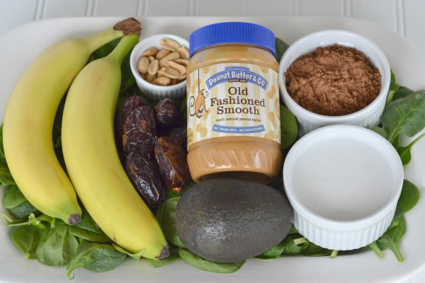 Peanut Butter Coconut Milk banana dates avocado cocoa powder spinach