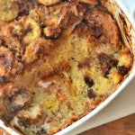 Peanut Butter Cinnamon Coconut Bread Pudding Fresh Out of Oven