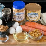 Ingredients for Carrot Cake with Mighty Maple Peanut Butter Cream Cheese