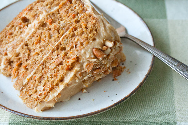 Carrot Cake with Peanut Butter Cream Cheese Icing