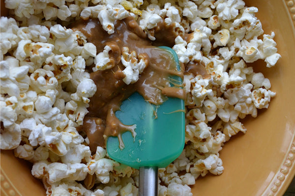 Caramel-Mixture-Popcorn-Peanut-Butter-Poured