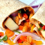 Spicy Peanut Butter Potato Burritos