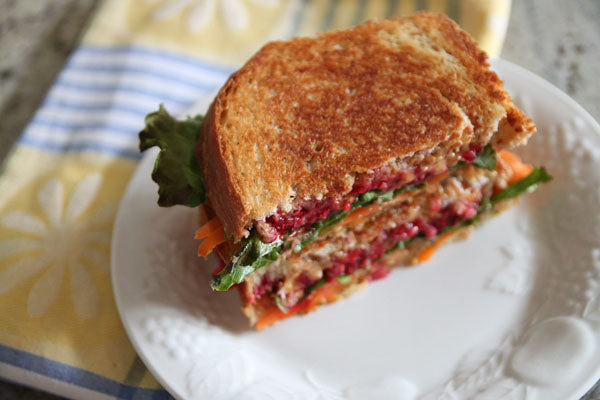 Finished Grilled Peanut Butter Rainbow Sandwich
