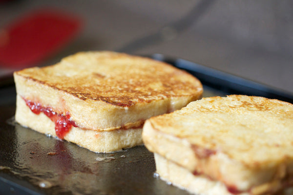 PB&J French Toast On Stove