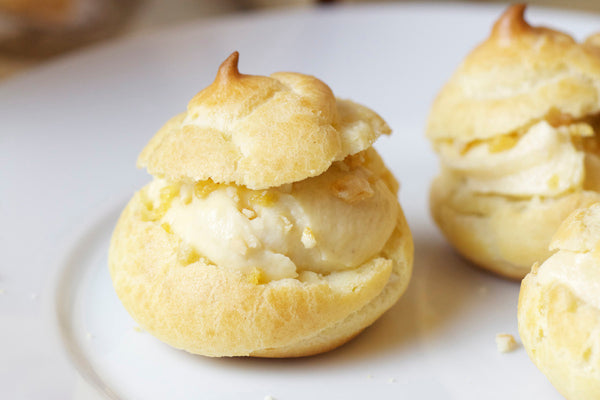 Profiteroles with Peanut Butter Pastry Cream