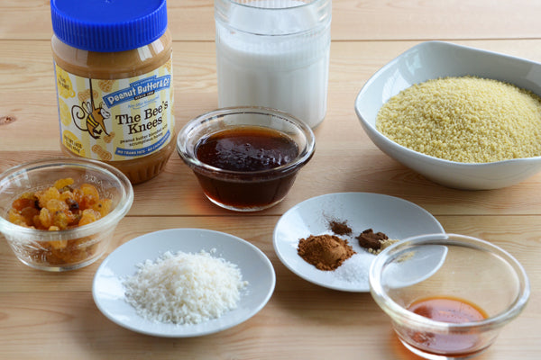 Creamy Moroccan-Spiced Peanut Butter Couscous Ingredients - Peanut Butter & Co. The Bee's Knees peanut butter